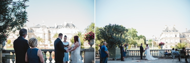 Paris elopement ceremony