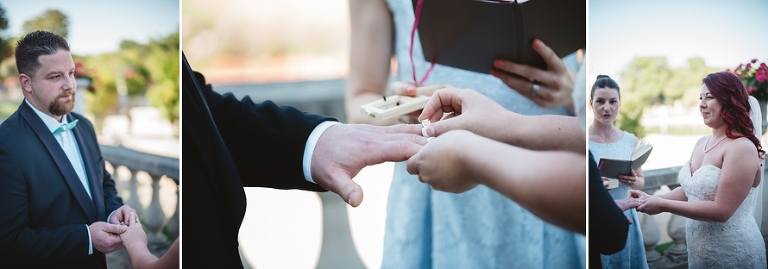 Paris wedding ring exchange