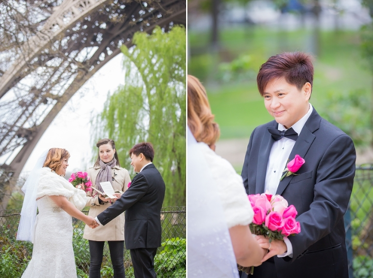 eiffel tower wedding