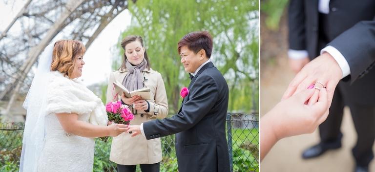 Paris officiant elopement ceremony