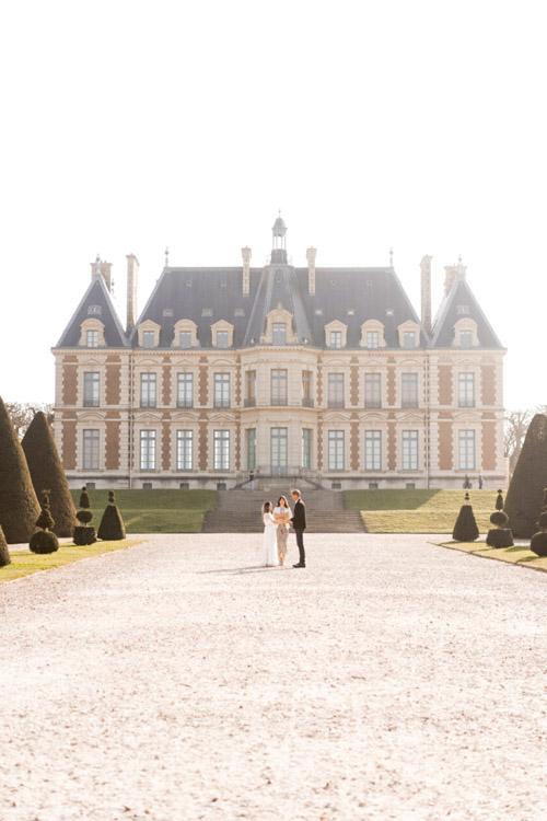 paris elopement castle chateaux