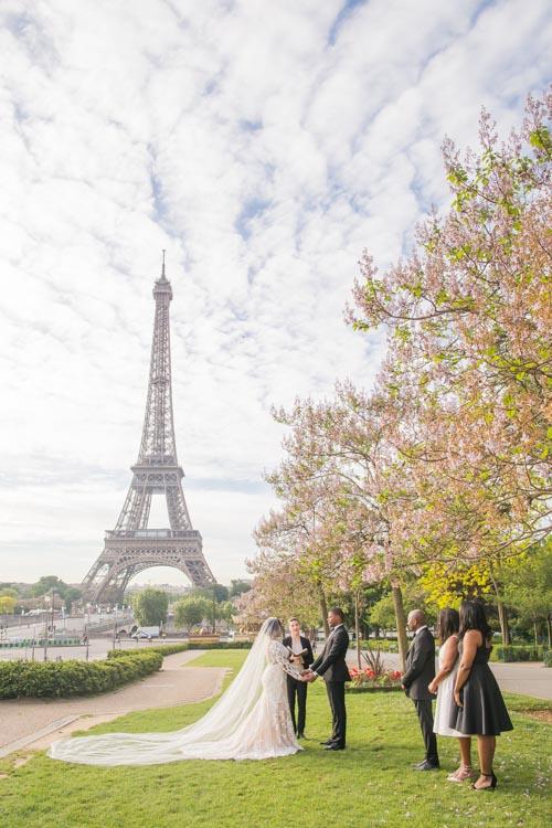 Eiffel Tower wedding ceremony