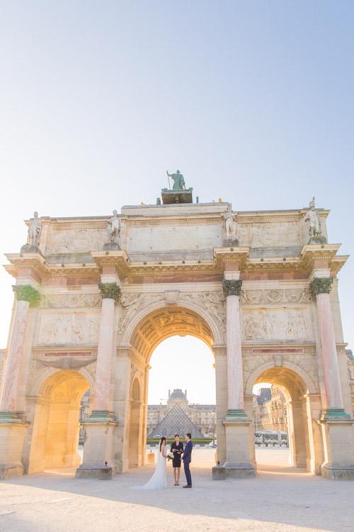 places elope paris louvre arch