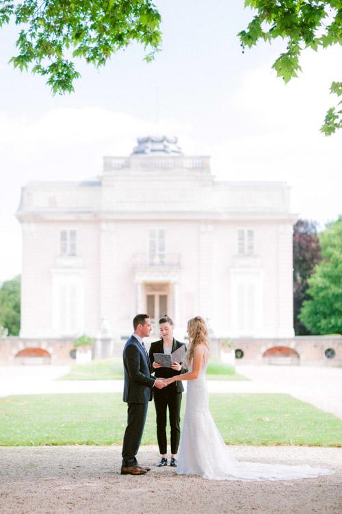 paris elopement ceremony elegant mansion