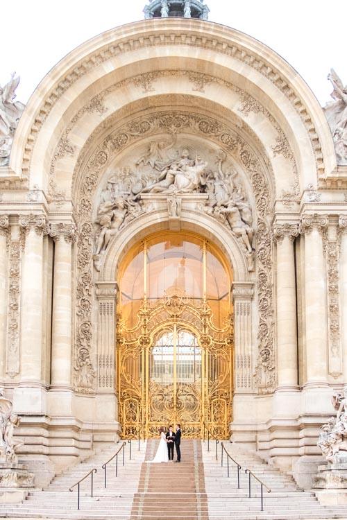 paris wedding ceremony golden gate