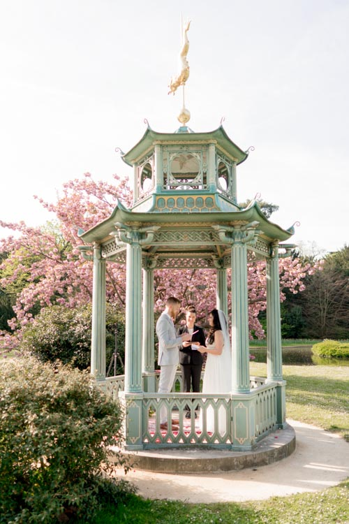 places elope paris cherry blossom gazebo