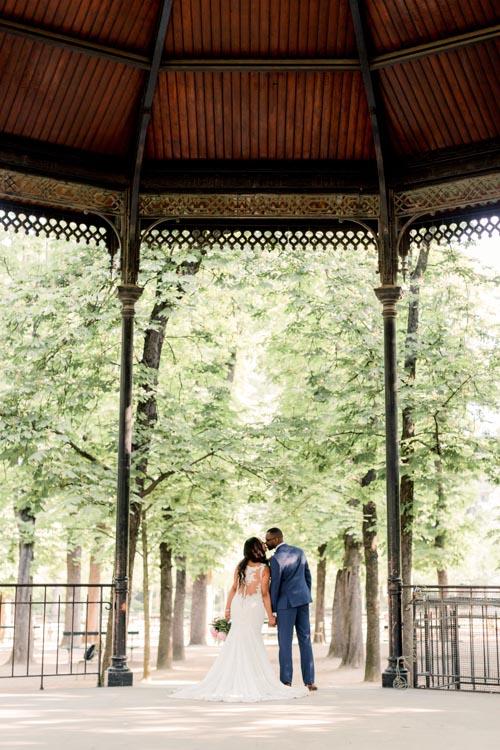 elopement location Paris gazebo park