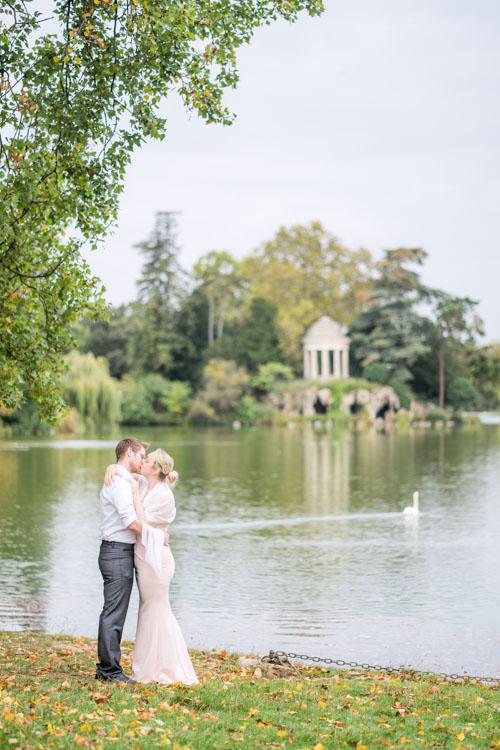 Paris elopement location lake garden park