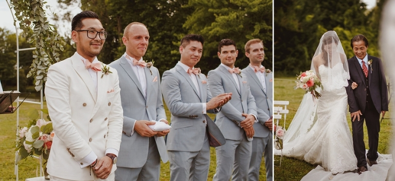 Wedding ceremony in France processional