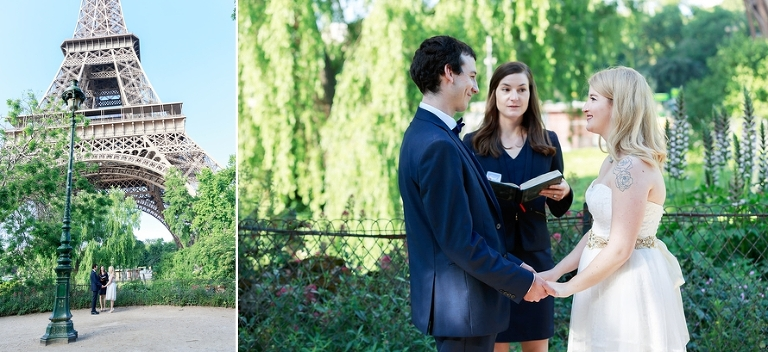 Paris officiant elopement wedding