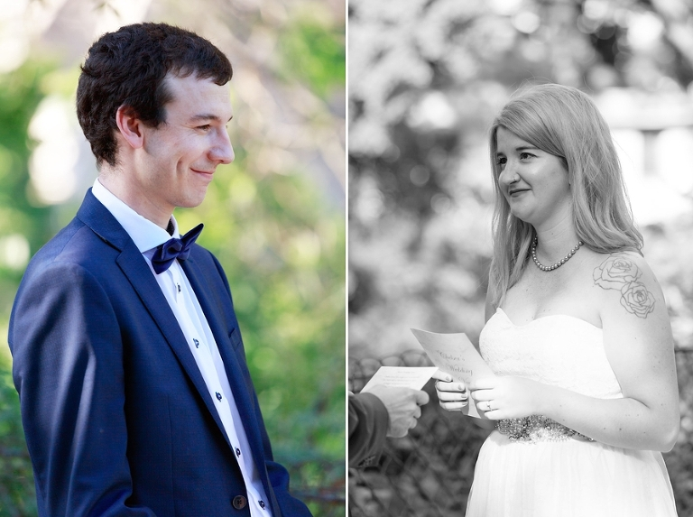 Eiffel Tower elopement personal wedding vows