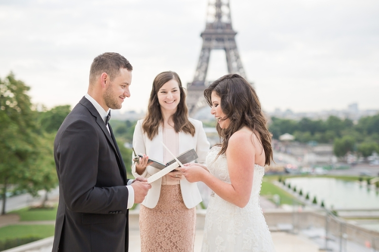 personal wedding vows eiffel tower wedding