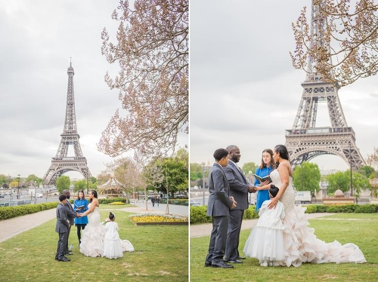 Eiffel Tower ceremony wedding