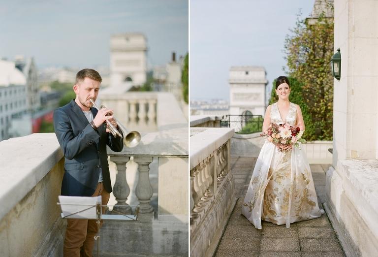 vintage elopement in Paris ceremony processional