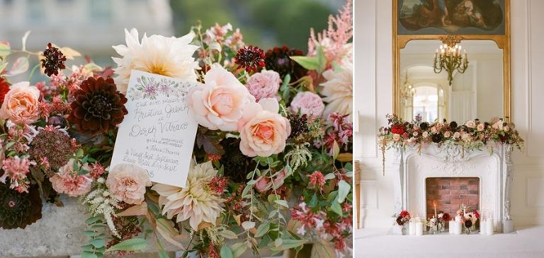 vintage elopement in Paris floral decoration