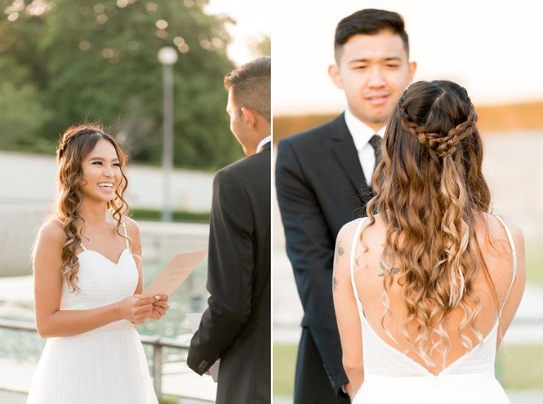 Eiffel Tower wedding personal vows