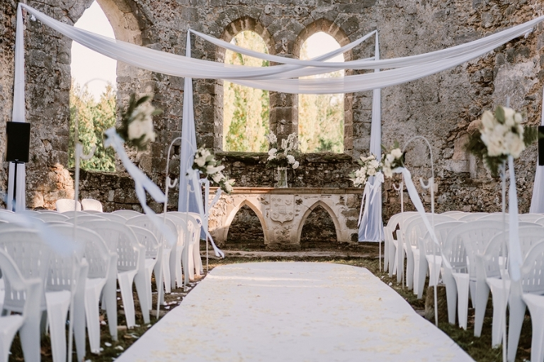 wedding in a French chateau ceremony location
