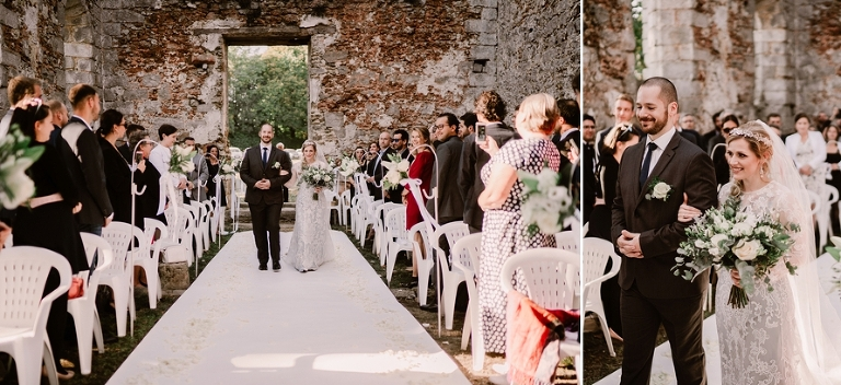 wedding in a French chateau ceremony processional