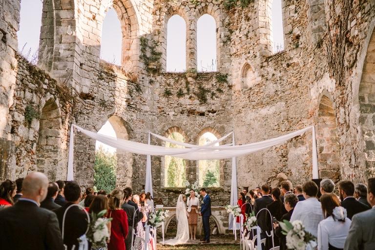 wedding in a French chateau bilingual ceremony