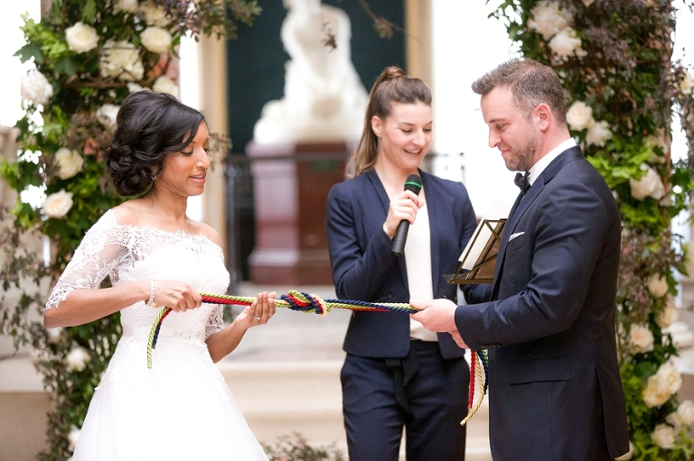Wedding in Paris France handfasting ceremony ritual