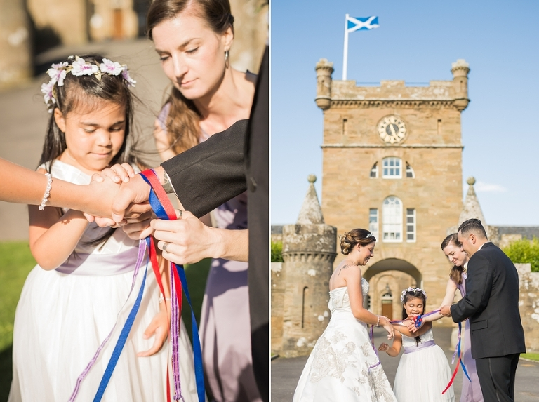 Handfasting ceremony destination wedding in Scotland