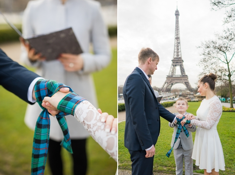 Family handfasting Eiffel Tower ceremony ritual