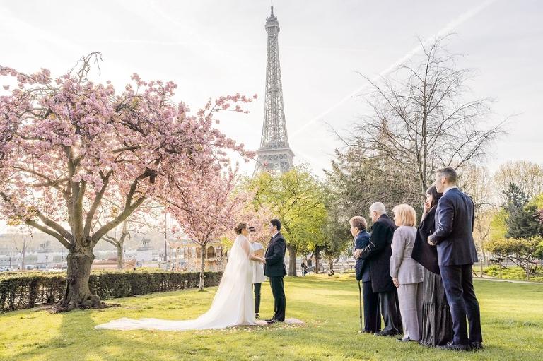 cherry blossom eiffel tower ceremony