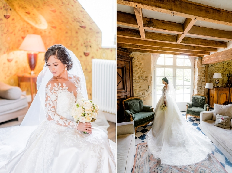 Bride French chateau