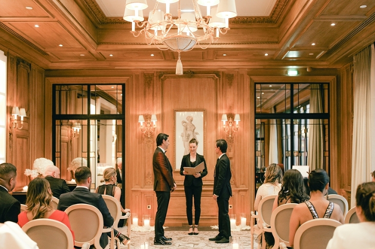 wedding ceremony four seasons paris