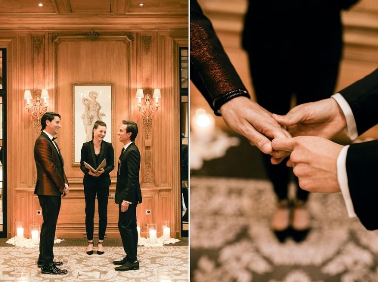 Paris wedding ceremony