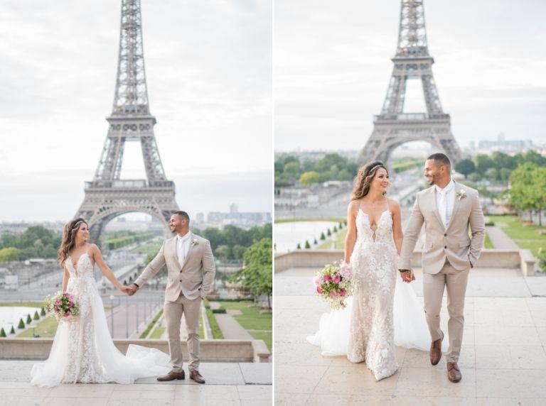 eiffel tower wedding photos
