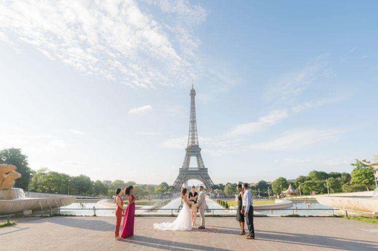 romantic eiffel tower elopement
