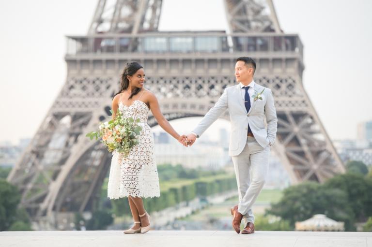 casual Paris elopement