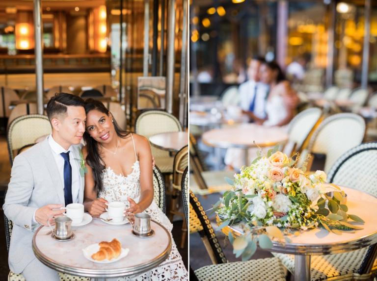 sweet Paris elopement