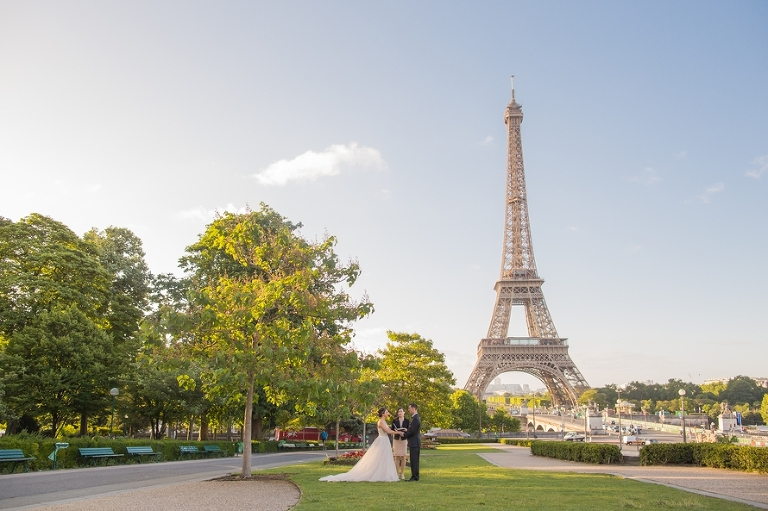 Paris elopement locations Eiffel Tower