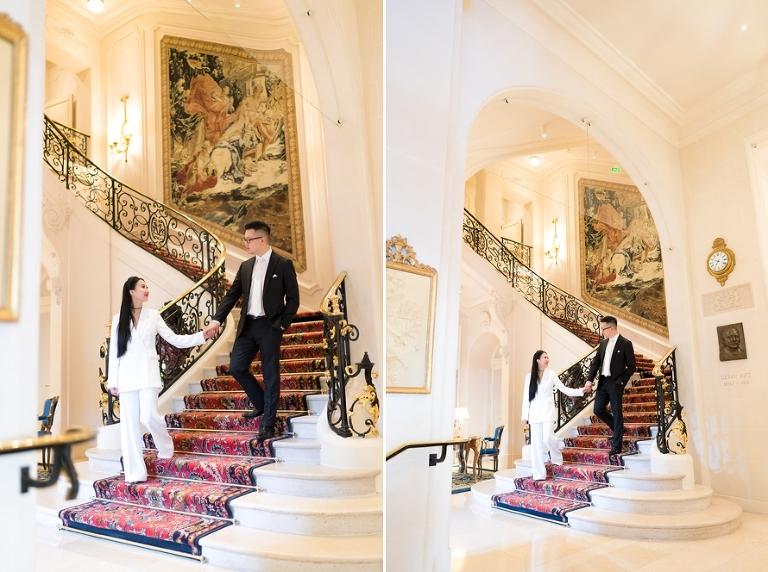 Ritz Paris modern wedding