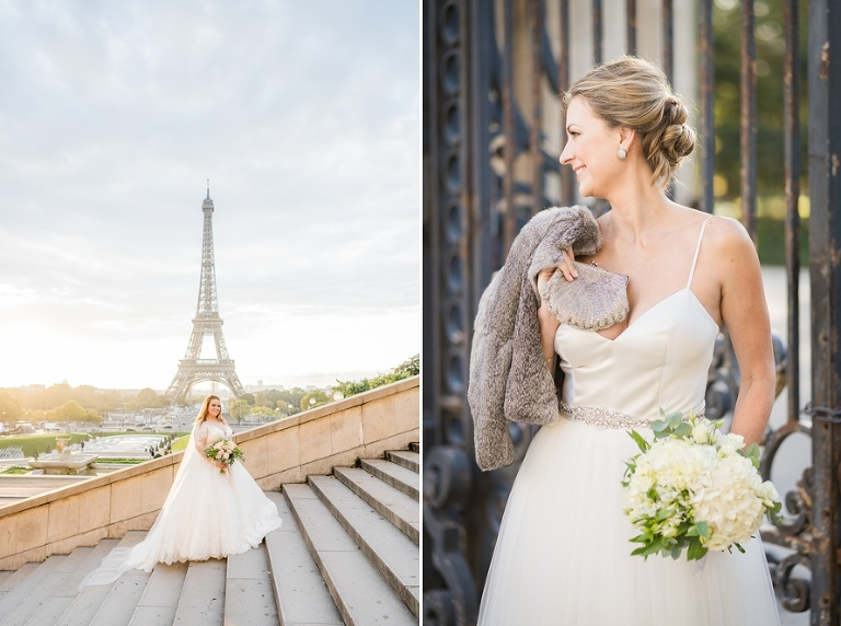 winter wedding outfits Eiffel Tower