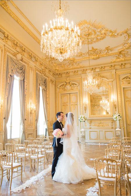 shangrila hotel paris wedding venue golden ballroom