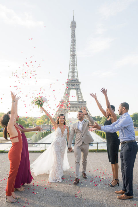 Eiffel Tower Paris elopement packages