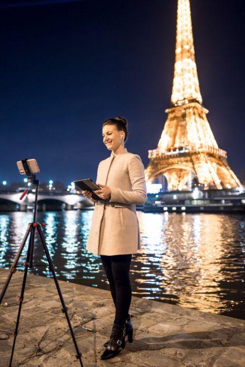 virtual Eiffel Tower wedding ceremony