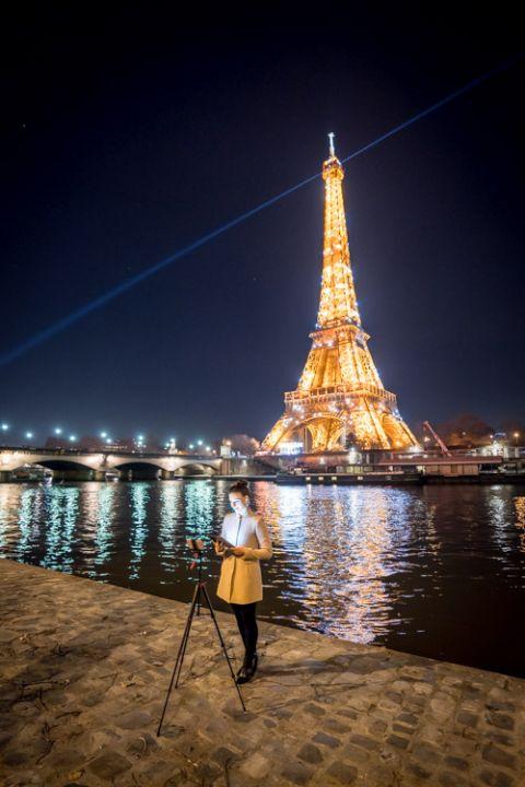 eiffel tower online wedding