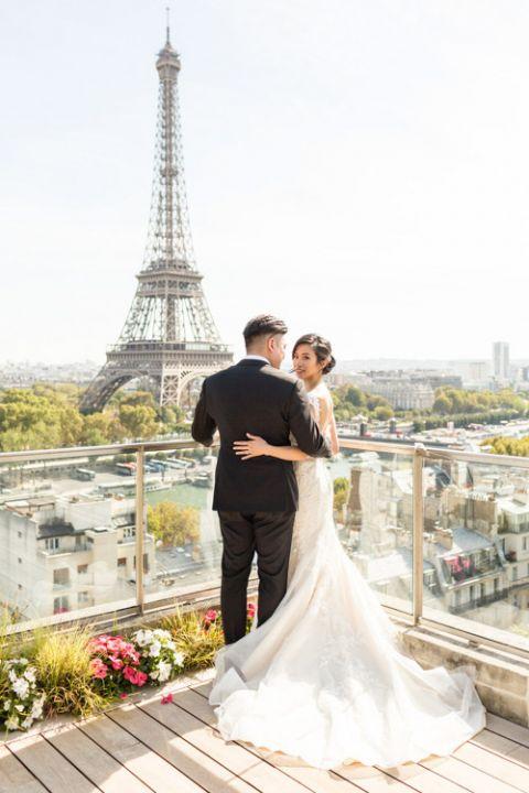 Paris wedding at Shangri-La hotel