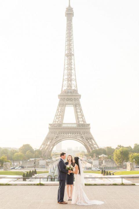 Eiffel Tower elopement ceremony