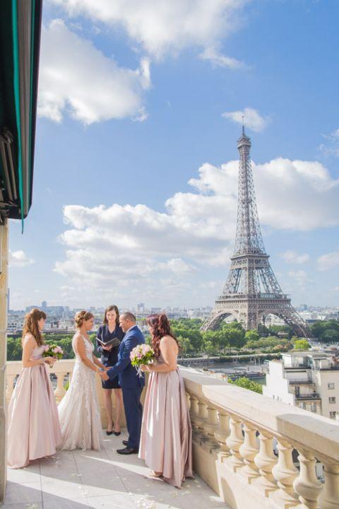 Eiffel Tower vow renwal ceremony Shangrila Paris