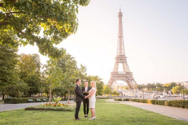 renew wedding vows Paris Eiffel Tower ceremony
