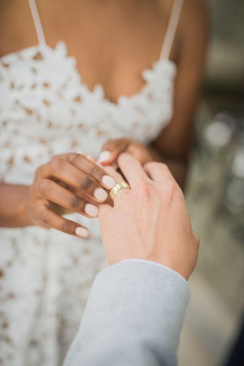 get married Paris France wedding ring exchange