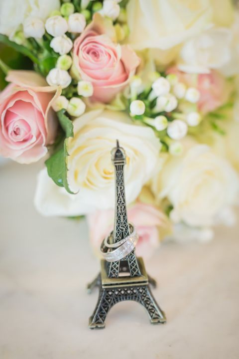 destination wedding rings Paris Eiffel Tower