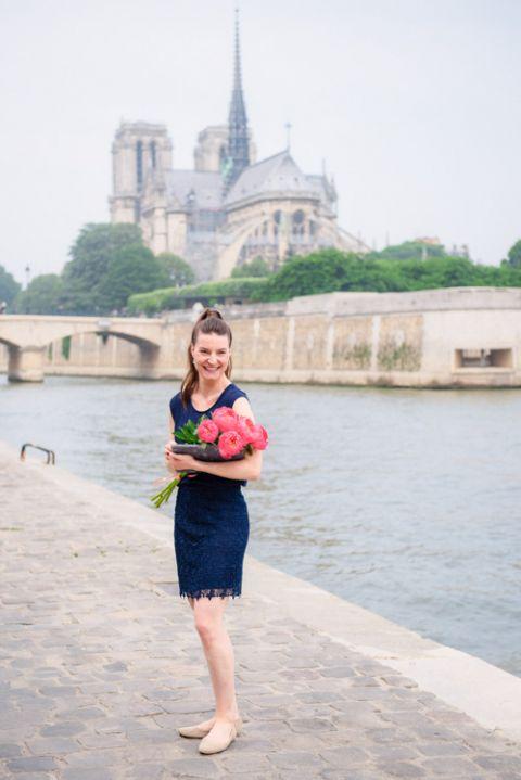 English speaking celebrant in Paris Notre Dame Laura Montorio