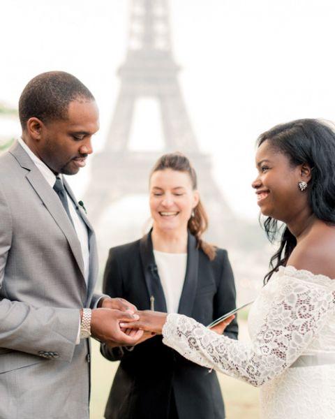 Paris officiant celebrant Eiffel Tower