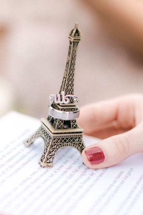 Getting married France Eiffel Tower wedding ring